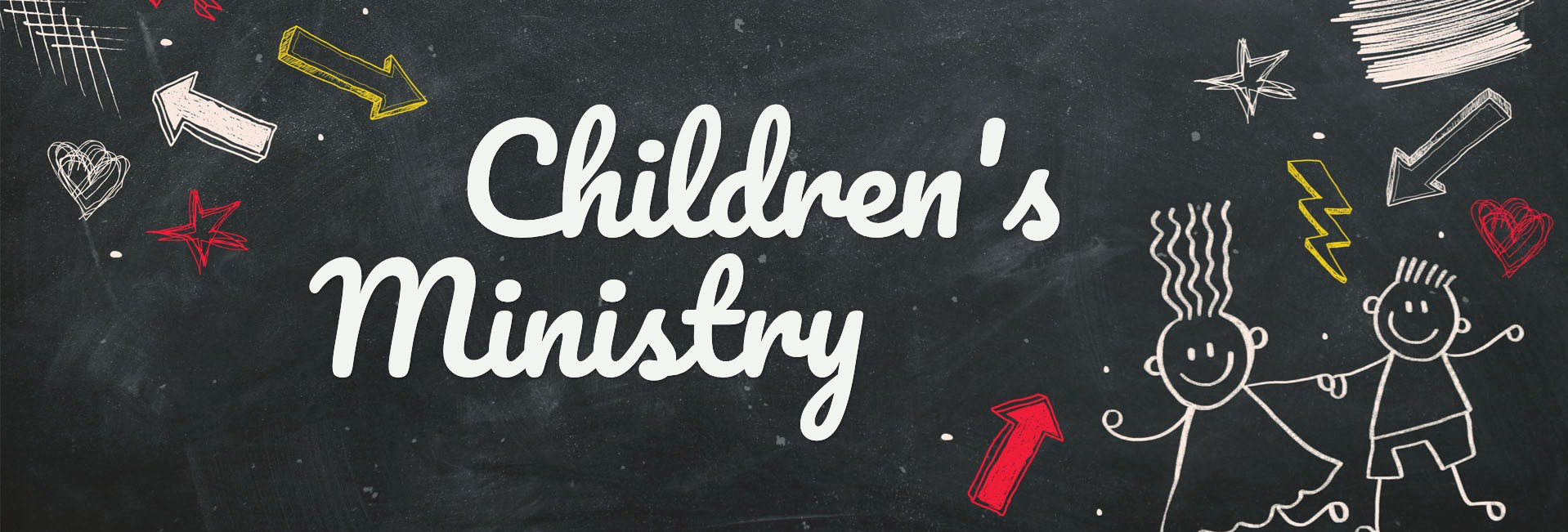 Back To School Chalkboard Art Church Website Graphic